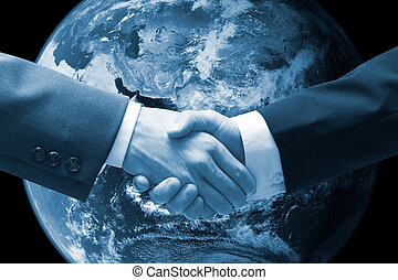 handshake - Business men shaking hands