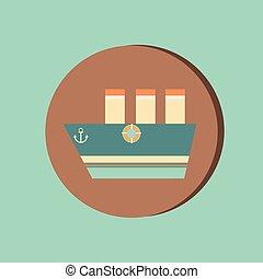 sailing ship symbol . icon boat steamer.  sailboat sign