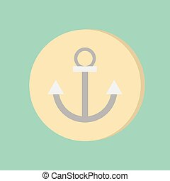 Nautical Anchor vector. anchor seafaring character. icon...