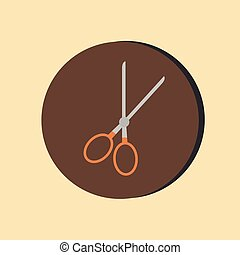 scissors. barbershop. symbol of hair and beauty salon