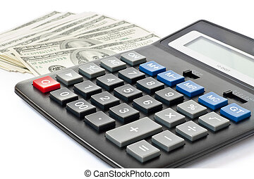finance concept. money with calculator