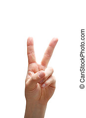 Peace sign - An isolated peace sign
