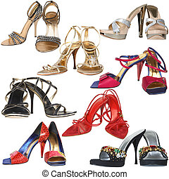 high heel - Shoes with a high heel on a white background