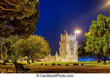 Belem tower in Lisbone city, Portugal - The Tower of Belem...