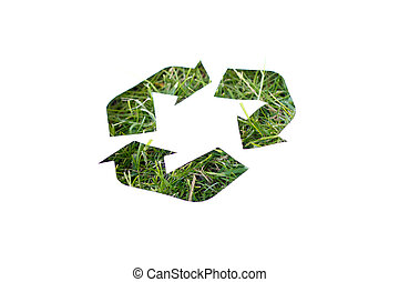 Recycle - A recycle logo of grass