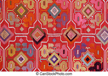 fabric embroidered with oriental ornaments