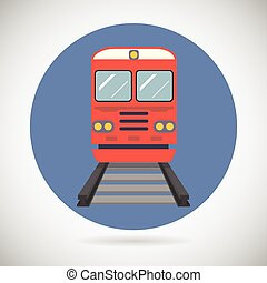 Railway Train Transport Carriage Symbol Railroad Rail Modern...