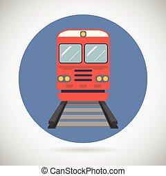 Järnväg, Tåg, transport, vagn, Symbol,...