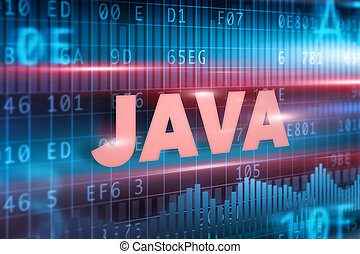 Java concept green background with green text
