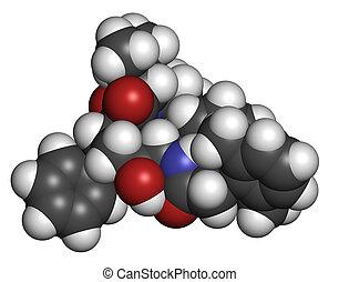 protease, HIV, molécula, Droga, lopinavir, inhibitor,...
