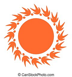 sun icon from people pictogram