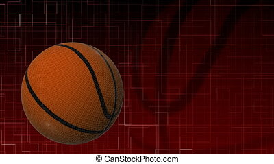 3d Basketball in HD - High Definition Basketball moving with...