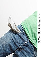 Empty pockets - A man with empty pockets