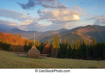 Haystack Mountain - Autumn landscape Haystack Mountain...