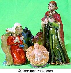 bambino, Giuseppe,  Mary, gesù