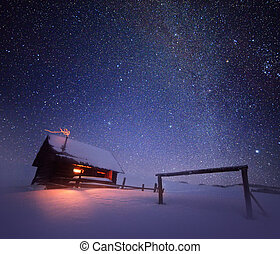 Christmas Night - Winter landscape. Christmas night. The...