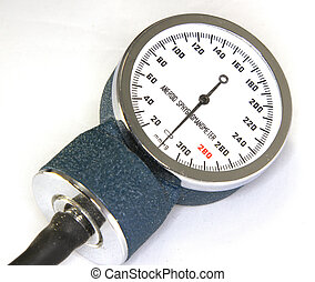 Sphygmomanometer with blood pressure meter isolated