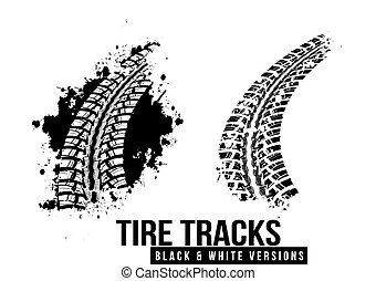 Tire track background - Tire track vector background in...