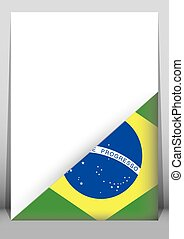 Illustration of an binder or holder with the flag of Brazil