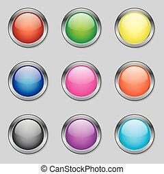 Round Web Buttons in Various Colours
