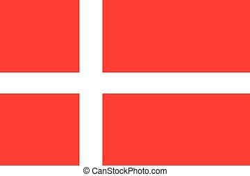 Illustration of the flag of Denmark