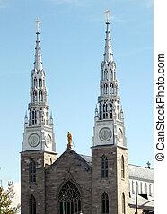 Ottawa Notre Dame Basilica facade 2008