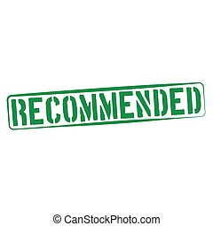 Stamp Illustration on White Background of  the word Recommended
