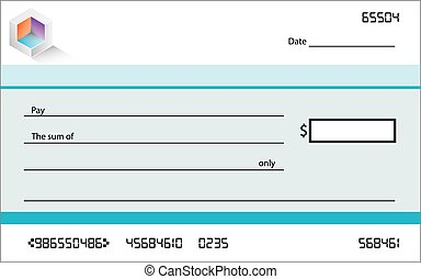 Template of blank banking check / cheque - A Template of...
