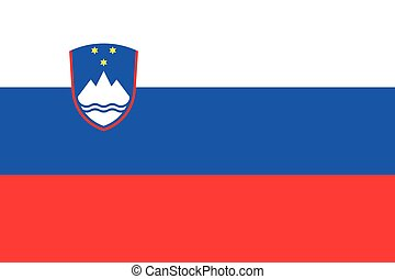 Illustration of the flag of Slovenia - An Illustration of...
