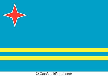 Illustration of the flag of Aruba - An Illustration of the...