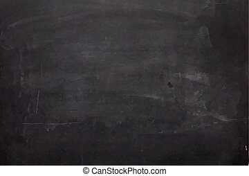 Close up of a black dirty chalkboard - Illustrated close up...