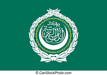 Illustration of the flag of Arab League - An Illustration of...