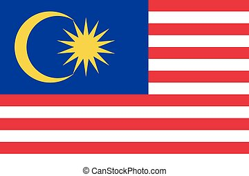 Illustration of the flag of Malaysia - An Illustration of...