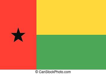 Illustration of the flag of Guinea Bissau - An Illustration...
