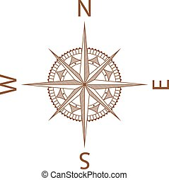 Illustration of a Map Compass on White Background
