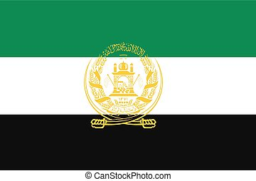 Illustration of the flag of Afghanistan - An Illustration of...