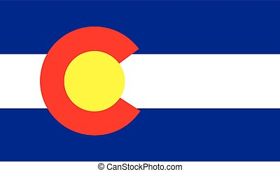 The flag of the United States of America State - Colorado -...