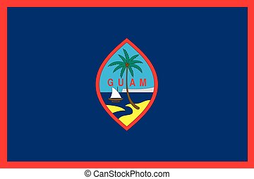 Illustration of the flag of Guam - An Illustration of the...