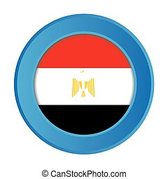 3D Button with the Flag of Egypt