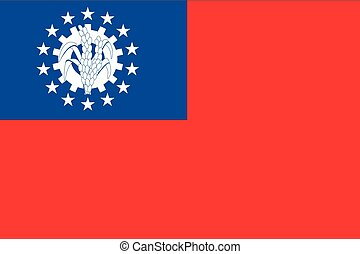 Illustration of the flag of Myanmar - An Illustration of the...