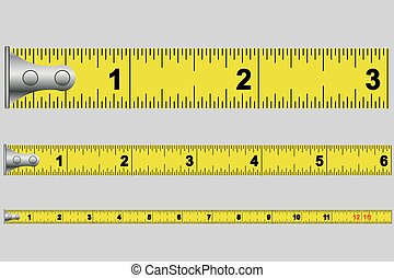 Illustrated Tape measure in inches - An Illustrated Tape...