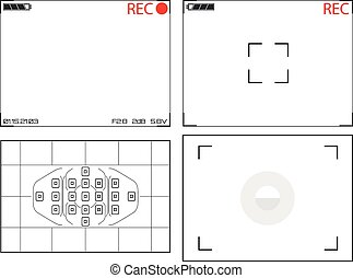 Illustration of Video Camera Viewfinder Displays - An...