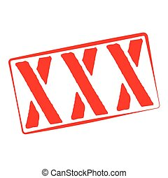 Stamp Illustration on White Background of the word XXX - A...