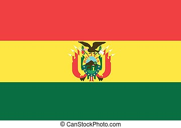 Illustration of the flag of Bolivia