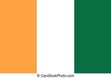 Illustration of the flag of Cote Divoire