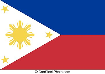 Illustration of the flag of Philippines - An Illustration of...