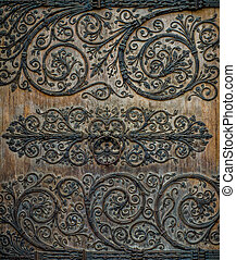 Ornate Decoration At Notre Dame Cathedral - Ornate Metalwork...