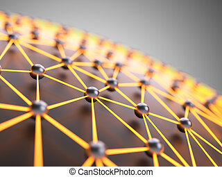 Abstract network - Abstract illuminated network close-up...