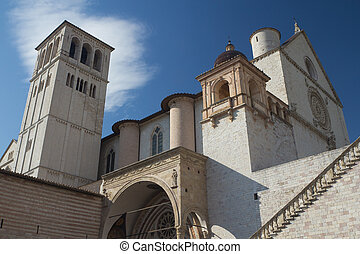 The Papal Basilica of St Francis of Assisi Assisi, Umbria,...