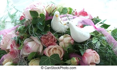 Bouquet With Doves